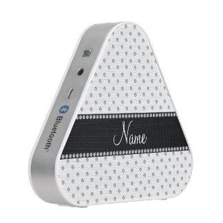 Personalized name white diamonds speaker