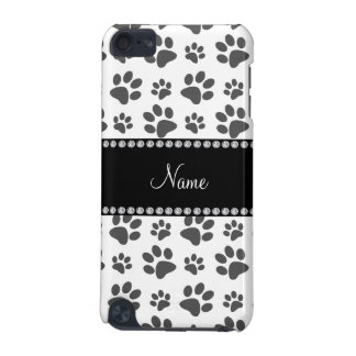 Personalized name white dog paw print iPod touch (5th generation) cover