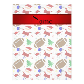 Personalized name white football christmas 21.5 cm x 28 cm flyer