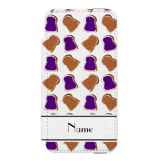 Personalized name white peanut butter jelly incipio watson™ iPhone 5 wallet case