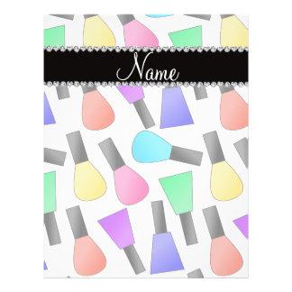 """Personalized name white rainbow nail polish 8.5"""" x 11"""" flyer"""