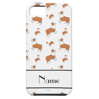 Personalized name white Welsh corgi pembroke dogs Case For The iPhone 5