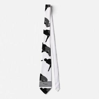 Personalized name white wrestling tie