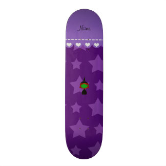 Personalized name witch purple stars 21.6 cm skateboard deck