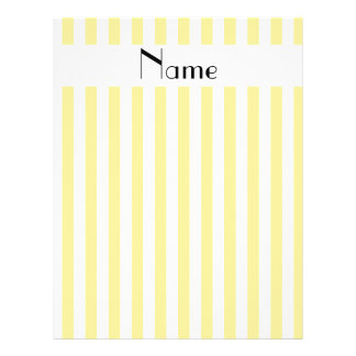Personalized name yellow and white stripes personalized flyer