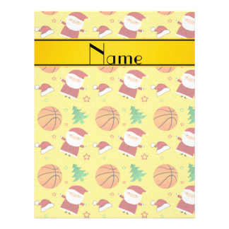 Personalized name yellow basketball christmas personalized flyer