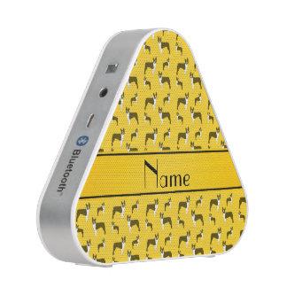 Personalized name yellow boston terrier speaker