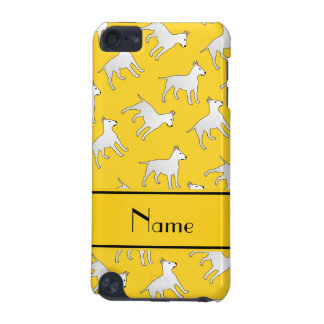 Personalized name yellow bull terrier dogs iPod touch 5G case
