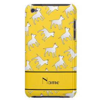 Personalized name yellow bull terrier dogs iPod touch cover