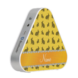 Personalized name yellow bunnies bluetooth speaker