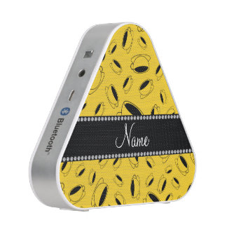 Personalized name yellow coffee cup