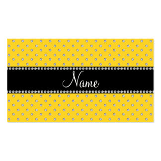 Personalized name yellow diamonds business card template