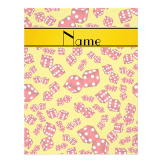 Personalized name yellow dice pattern 21.5 cm x 28 cm flyer