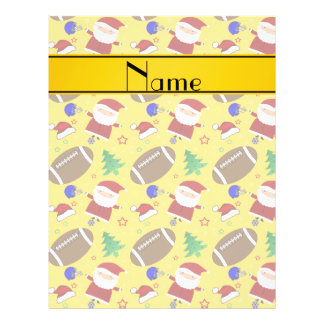 Personalized name yellow football christmas 21.5 cm x 28 cm flyer