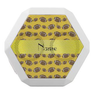 Personalized name yellow footballs white boombot rex bluetooth speaker