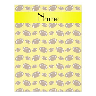 Personalized name yellow footballs flyer design