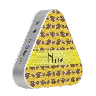Personalized name yellow footballs bluetooth speaker