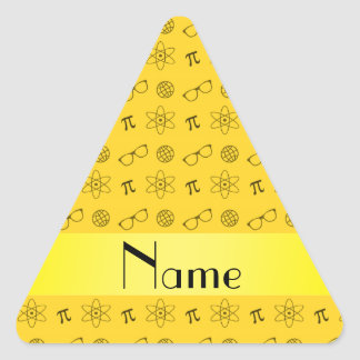 Personalized name yellow geek pattern stickers