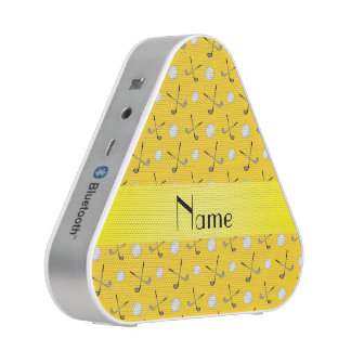 Personalized name yellow golf balls speaker
