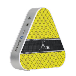 Personalized name yellow grid pattern