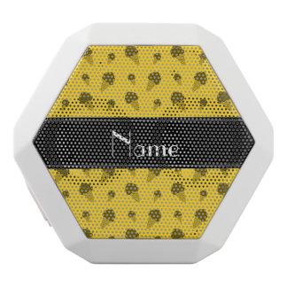 Personalized name yellow ice cream pattern white boombot rex bluetooth speaker