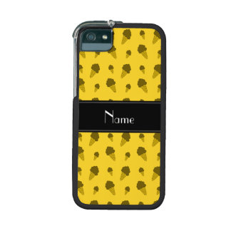 Personalized name yellow ice cream pattern iPhone 5/5S covers