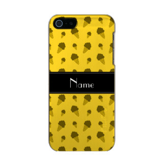 Personalized name yellow ice cream pattern incipio feather® shine iPhone 5 case
