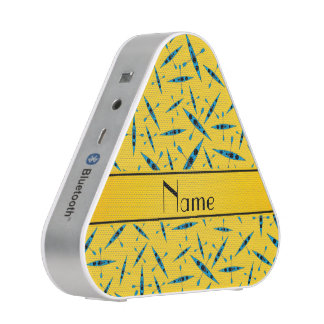 Personalized name yellow kayaks speaker
