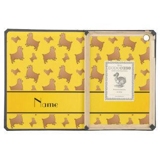Personalized name yellow Norwich Terrier dogs iPad Air Cover