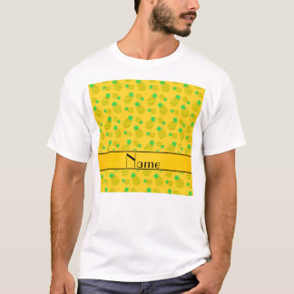 Personalized name yellow on yellow pineapples T-Shirt