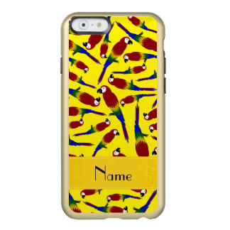Personalized name yellow red parrots incipio feather® shine iPhone 6 case
