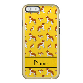 Personalized name yellow St Bernard dogs Incipio Feather® Shine iPhone 6 Case