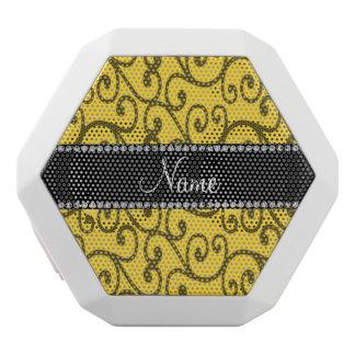 Personalized name yellow swirls
