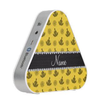 Personalized name yellow yoga pattern