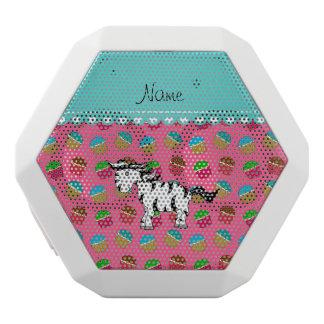 Personalized name zebra pink cupcakes white boombot rex bluetooth speaker