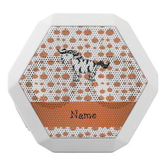 Personalized name zebra pumpkins pattern white boombot rex bluetooth speaker