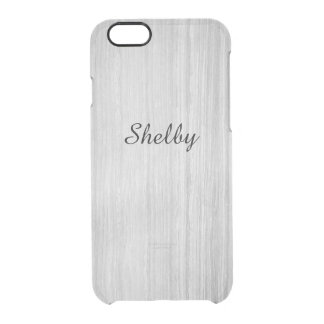 Personalized Named Granite Stripes iPhone 6/6s Clear iPhone 6/6S Case