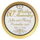 PERSONALIZED (NAMES/DATES) 60th Anniversary Plate
