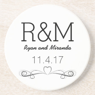 Personalized Names & Wedding Date Coaster