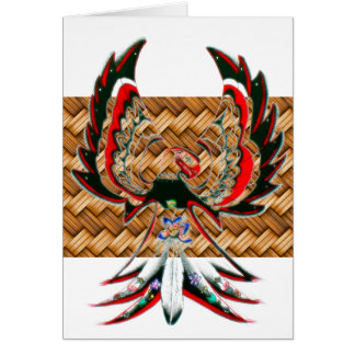 Personalized Native American Basket Greeting Card