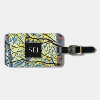 Personalized Nature Tag, Monogram and Name/Address Luggage Tag