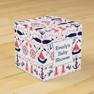 Personalized Nautical Baby Shower Gift Bag Favour Box