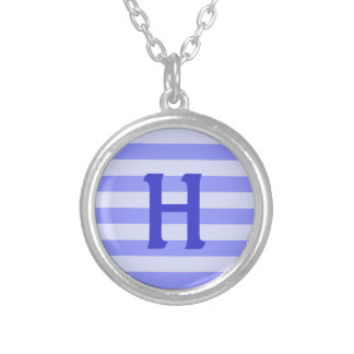 Personalized Nautical Blue Stripes Personalized Necklace