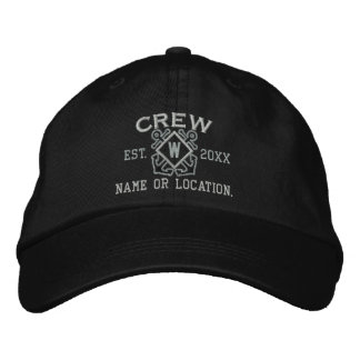 Personalized Nautical Crew Monogram & more Embroidered Hat