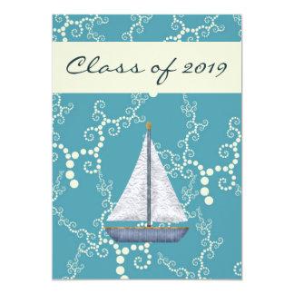 Personalized Nautical Sailboat Graduation Invite