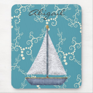 Personalized Nautical Sailboat Mousepad