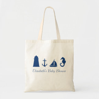 Personalized Nautical Silhouette Tote Bag