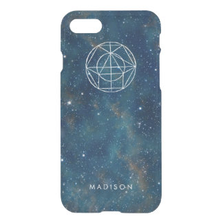 Personalized Nebula Galaxy Stars Geometry Pattern iPhone 8/7 Case