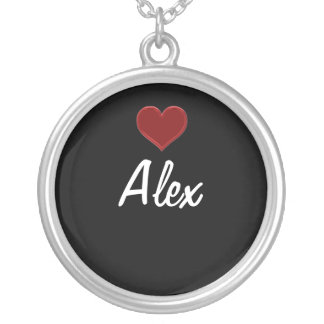 Personalized Necklace ALEX-Sterling Silver Cool