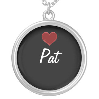 Personalized Necklace-PAT Sterling Silver Cool! Round Pendant Necklace